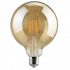 ΛΑΜΠΤΗΡΑΣ E27 G125 6W FILAMENT 2700K GOLDEN COVER DIMMABLE