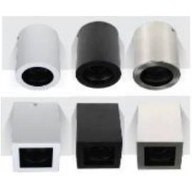 EXTERNAL SQUARE SPOT HOUSING GU10/GU5.3 BLACK